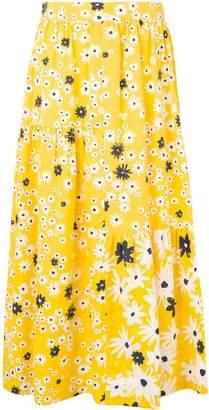 Parker Chinti & floral ruffle midi skirt