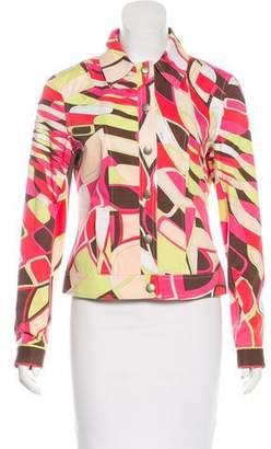 Emilio Pucci Printed Collar Jacket