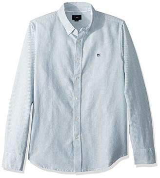 Obey Men's Eighty Nine Stripes Long Sleeve Woven Shirt