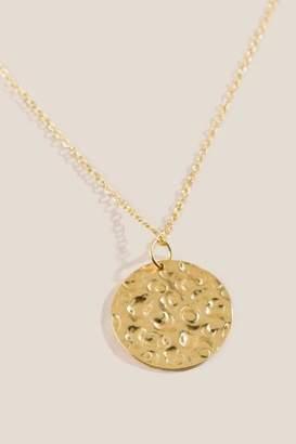 francesca's Ellie Gold Hammered Coin Pendant Necklace - Gold