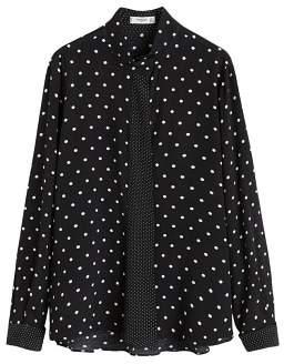 MANGO Polka-dot flowy blouse