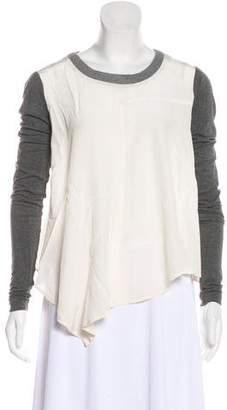 Elizabeth and James Silk Long Sleeve Top
