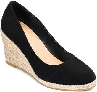 Next Womens Simply Be Wide Fit Espadrille Wedge Court Heels