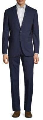 Saks Fifth Avenue Striped Wool Suit