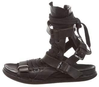 Ann Demeulemeester Leather Gladiator Sandals