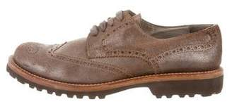 Brunello Cucinelli Metallic Wingtip Oxfords