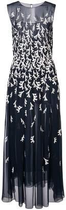 Oscar de la Renta sleeveless embroidered gown