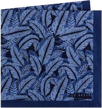 Ted Baker Palm Print Silk Pocket Square