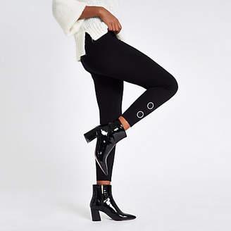 River Island Black rhinestone embellished leggings