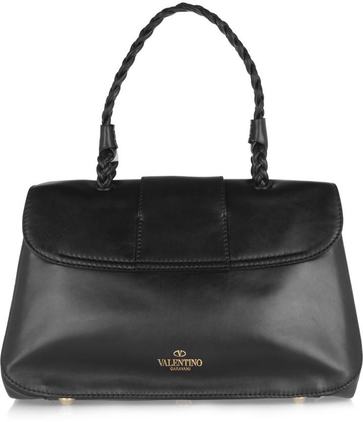 Valentino Braid-detailed leather shoulder bag