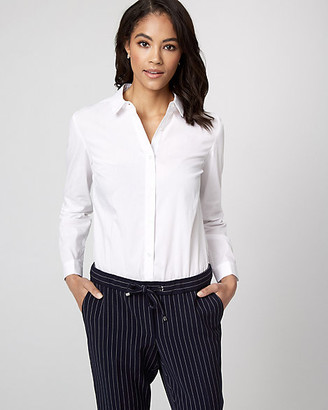 Le Château Stretch Poplin Button-Front Bodysuit