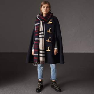 Burberry Double-faced Wool Blend Duffle Cape