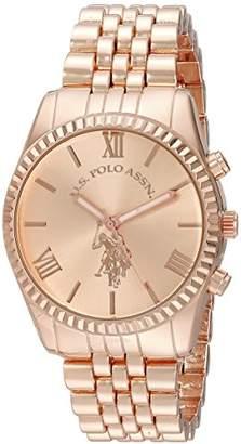 U.S. Polo Assn. Women's USC40060 Analog Display Analog Quartz Rose Gold-Tone Watch