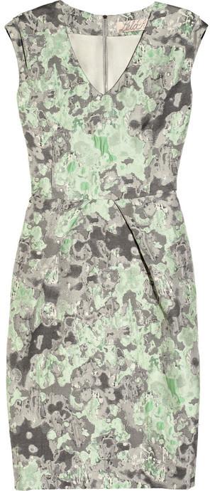 Lela Rose Abstract-patterned brocade dress