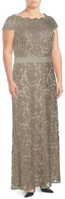 Tadashi Shoji Women's Embroidered Lace Floor-Length Dress