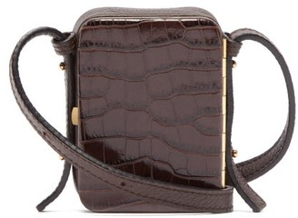 Lutz Morris - Norman Contrast Panel Leather Cross Body Bag - Womens - Brown