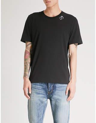 Saint Laurent Playing card-print cotton-jersey T-shirt