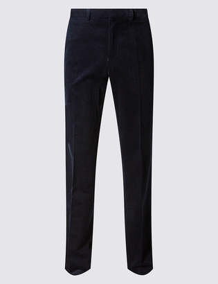 M&S Collection Tailored Fit Cotton Rich Corduroy Trousers