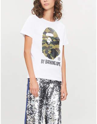 BAPE 1st Camo logo-print cotton-jersey T-shirt