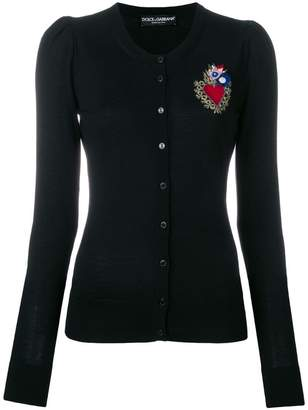 Dolce & Gabbana Sacred Heart patch cardigan