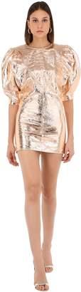 Isabel Marant Nadela Metallic Leather Mini Dress