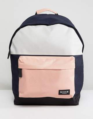 Nicce London backpack with pink panels