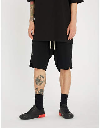Rick Owens Relaxed-fit dropped-crotch cropped trousers