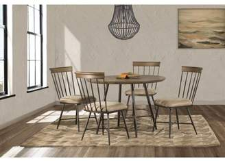 Hillsdale Furniture Forest Hill 5 Piece Round Dining Set with Side Chairs in Brown
