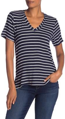 Michael Stars Striped V-Neck Top