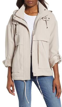 7e9af5e8b077a Free Shipping & Free Returns at Nordstrom · Kensie Crepe Blouson Hooded  Jacket