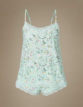 Marks and Spencer Lace Floral Print Camisole Set