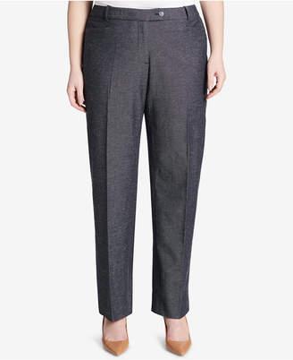 Calvin Klein Plus Size Patterned Straight-Leg Pants