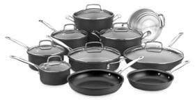 Cuisinart Chefs Classic Non-Stick Hard Anodized 17-Piece Cookware Set
