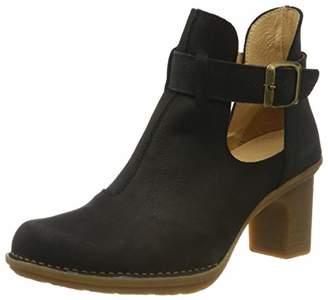El Naturalista Women's N5404 Pleasant Black/Dovela Ankle Boots