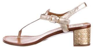 Tory Burch Metallic Thong Sandals