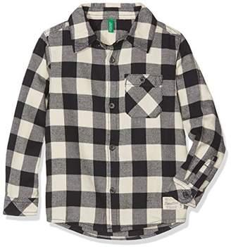Benetton Boy's 5rg85q8k0 Shirt,(Manufacutrer Size: 1Y)