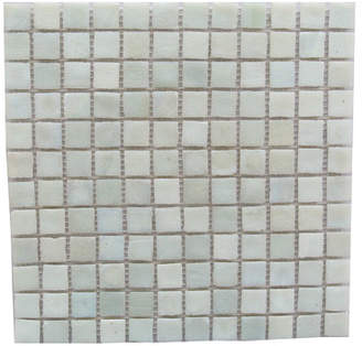 Abolos SAMPLE - LEED Amber Glass Mosaic Tile in Cream