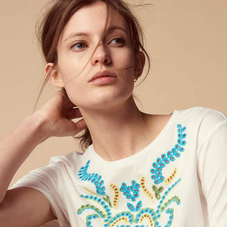 Sandro T-shirt with colourful embroidery