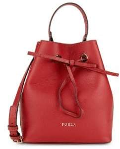 Furla Costanza Leather Bucket Bag