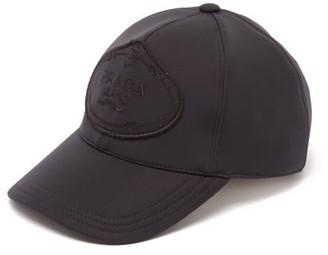 Prada Logo Embroidered Neoprene Cap - Womens - Black