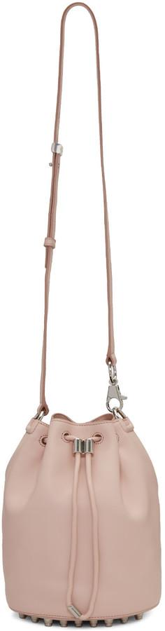 Alexander Wang Pink Leather Alpha Bucket Bag