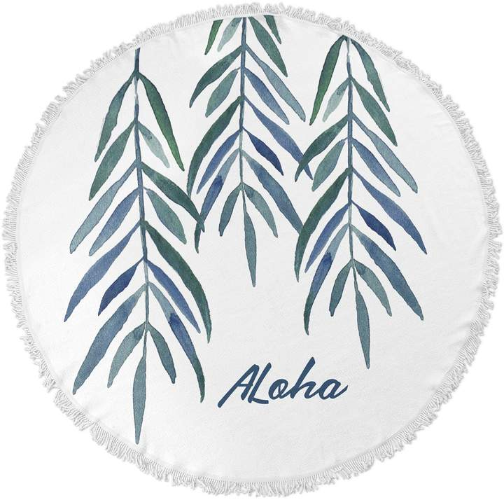 Kavka Designs Aloha Round Beach Towel