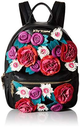 Betsey Johnson Gypsy Rose Flower Applique Backpack