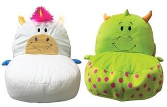 flipazoo FlipaZoo Plush 2-in-1 Unicorn/Dragon Kids Chair