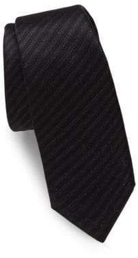 The Kooples Striped Raw-Silk Tie