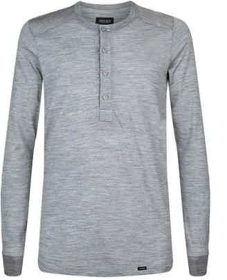 Hanro Thermal Merino Wool Button Tee