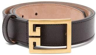 Givenchy Double G Leather Belt - Womens - Black