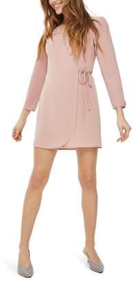 Topshop Crepe Wrap Minidress
