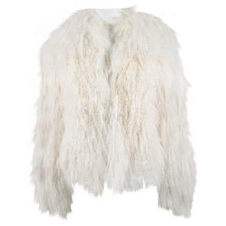 Non Signé / Unsigned Non Signe / Unsigned White Mongolian Lamb Coats
