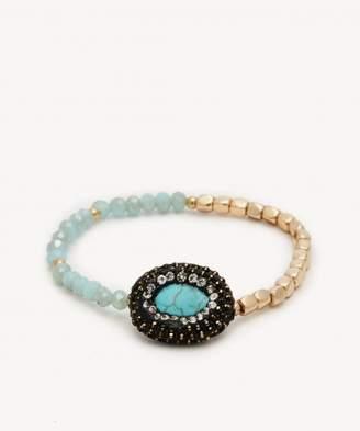Sole Society Stone Beaded Stretch Bracelet